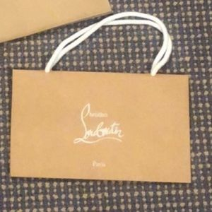 Small authentic Louboutin shopping bag